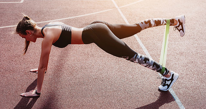 Использования фитнес резинки