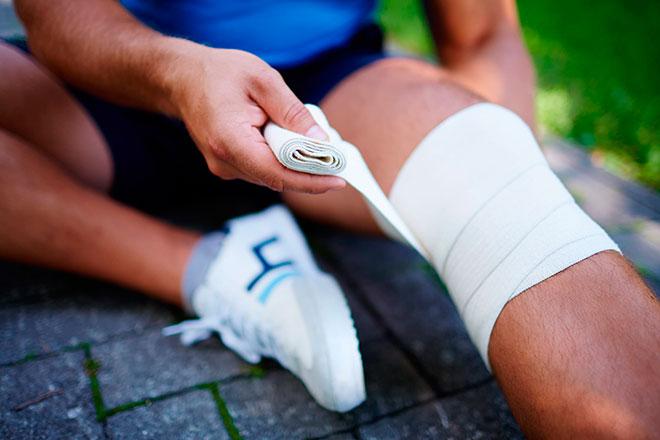 Эластичный бинт на колено сколько можно носить